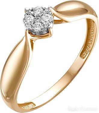 Кольцо Ювелирные Традиции K113-5860_16-5 по цене 24580₽ - Кольца и перстни, фото 0