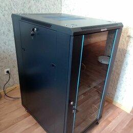 Прочее сетевое оборудование - Hyperline TTB-2268-AS-RAL9004 (22U) шкаф серверный, телекоммуникационный, 0