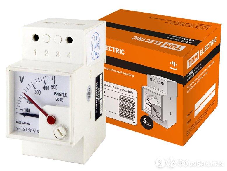 Вольтметр В45ПД 500В класс точности 1,5 на DIN-рейку TDM по цене 1301₽ - Товары для электромонтажа, фото 0