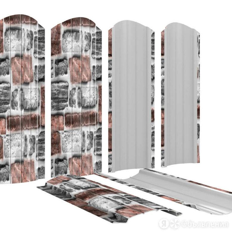 Штакетник металлический Полукруглый 110мм Кирпич Зольный Printech Корея по цене 210₽ - Заборы, ворота и элементы, фото 0