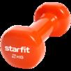Гантель виниловая Core DB-101, 2 кг, оранжевый, Starfit по цене 739₽ - Защита и экипировка, фото 0