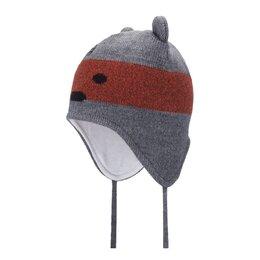 Головные уборы - Зимняя детская шапка Satila Bearly (серая), 0