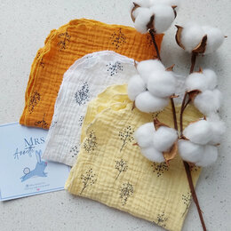 Бумажные салфетки, носовые платки - Муслиновые платочки. Носовой платок из муслина, 0