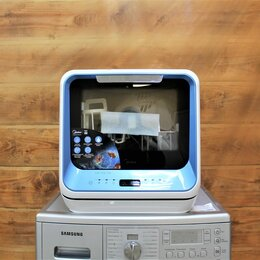 Посудомоечные машины - Посудомоечная машина (компактная) midea mcfd42900BL mini, 0