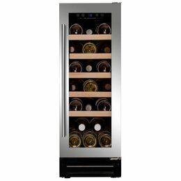 Винные шкафы - Встраиваемый винный шкаф dunavox dx-7.20 в Сером цвете, 0