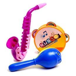 Детские наборы инструментов - Набор музыкальных инструментов «Оркестр», 3 предмета, МИКС, 0