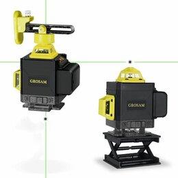 Измерительные инструменты и приборы - Лазерный уровень (нивелир) зелёный луч 4д 360, 0