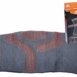 Устройства, приборы и аксессуары для здоровья - Суппорт голеностопа эластичный SIBOTE ST-945 S Серо-оранжевый, 0