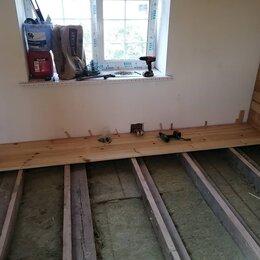Архитектура, строительство и ремонт - Укладка шпунтованной доски на лаги, плюс монтаж вагонки на стену и потолок. , 0