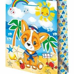 Подарочная упаковка - Пакет подарочный Собачка моряк 26х32 см, 0