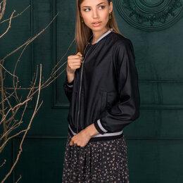 Куртки и пуховики - Куртка 104 AMBERA черная Модель: 104, 0