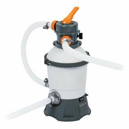 Фильтры, насосы и хлоргенераторы - Фильтр-насос песочный 220-240v, 3028 л/ч, 58515 bestway, 0