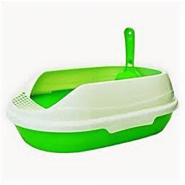 Биотуалеты - HOMECAT Туалет средний овальный ЗЕЛЕНЫЙ в комплекте с совком 65112 , 0