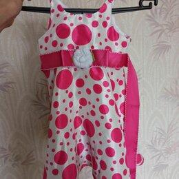 Платья и сарафаны - Платье белое в розовый горошек, 0