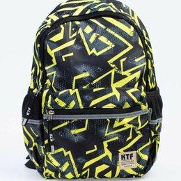 Рюкзаки, ранцы, сумки - Школьный рюкзак ТМ Котофей цвет черный/салатовый, 0