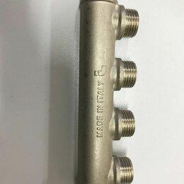 Коллекторы - Коллектор ITAP латунь никелированный 3/4 4выхода -1/2, 0