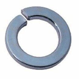 Шайбы и гайки - Оцинкованная пружинная шайба Метиз-Эксперт 14 DIN127 (1000 шт.), 0
