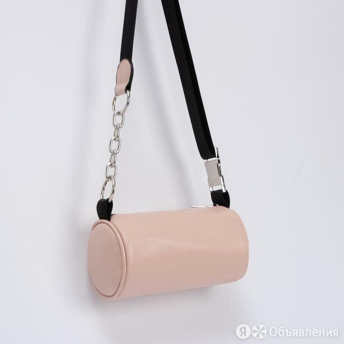 Сумка-багет, отдел на молнии, длинный ремень, цвет розовый по цене 1452₽ - Рюкзаки, фото 0