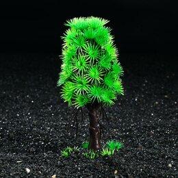 Растения для аквариумов и террариумов - Растение искусственное аквариумное, 18 см (комплект из 2 шт.), 0
