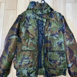 Одежда и обувь - Куртка мужская зимняя камуфлированная «секьюрити», 0