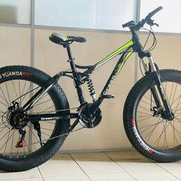 Велосипеды - Фэтбайк новый fatbike двухподвес Green Bike GT-GR634, 0