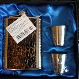 Подарочные наборы - Подарочные наборы фляжка с рюмками, 0