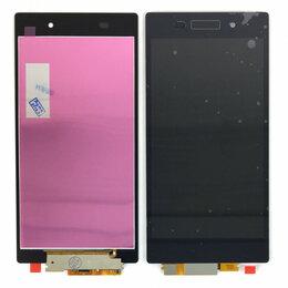 Дисплеи и тачскрины - Дисплей для Sony Xperia Z1 C6903 AAA черный, 0
