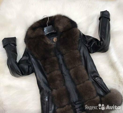 Куртка кожзам женская зимняя по цене 5000₽ - Пуховики, фото 0