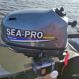 Двигатель и комплектующие  - Лодочный мотор sea pro four stroke 6 л с 4 т опкатан, на гарантии., 0