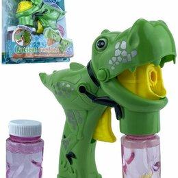 """Мыльные пузыри - Мыльные пузыри механические """"Пистолет. Динозавр"""" (зелёный), 0"""