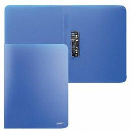 Упаковочные материалы - Папка с зажимом  Proff Next + карман, синяя 0.6мм (6/60), 0