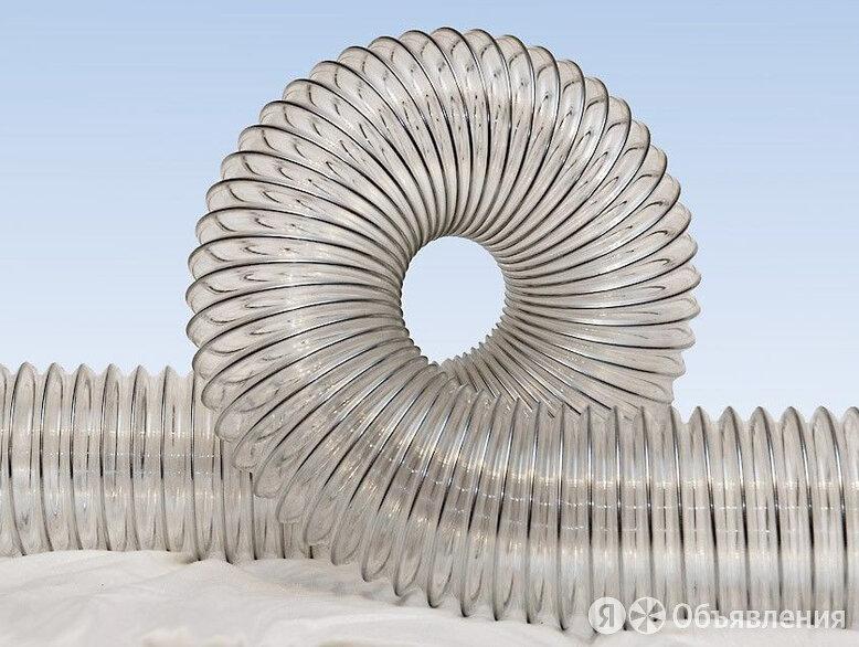Воздуховод из полиуретана PU-0.4мм - 125  гибкий, армирован стальной упругой ... по цене 486₽ - Вентиляция, фото 0