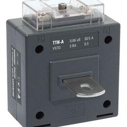 Электроустановочные изделия - Трансформатор тока измерительный 250/5 класс точности 0,5 S ТТИ-А  (с шиной) ..., 0