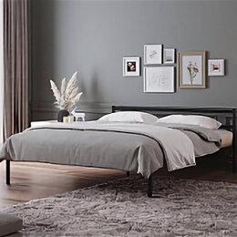 Кровати - Кровать для спальни ЛегкоМаркет Стоун черный, 0