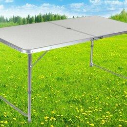 Походная мебель - Стол складной 120*60*70см (алюм d=25мм), цвет.коробка, Eurica, 0