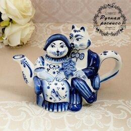 Заварочные чайники - Чайник «Кошки», гжель, 0