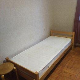Кровати - Икеа кровать односпальная деревянная некрашеная, 0