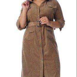 Платья - Платье рубашка вельвет. Размер 52-54; 56-58., 0