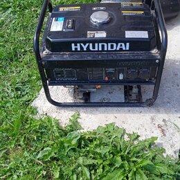 Электрогенераторы и станции - Бензиновый генератор hyundai бу, 0
