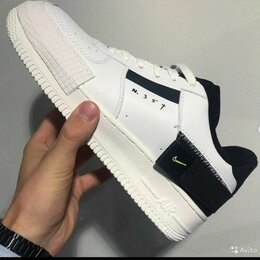 Кроссовки и кеды - Кроссовки Nike Аир Форс 1 белые оригинал, 0