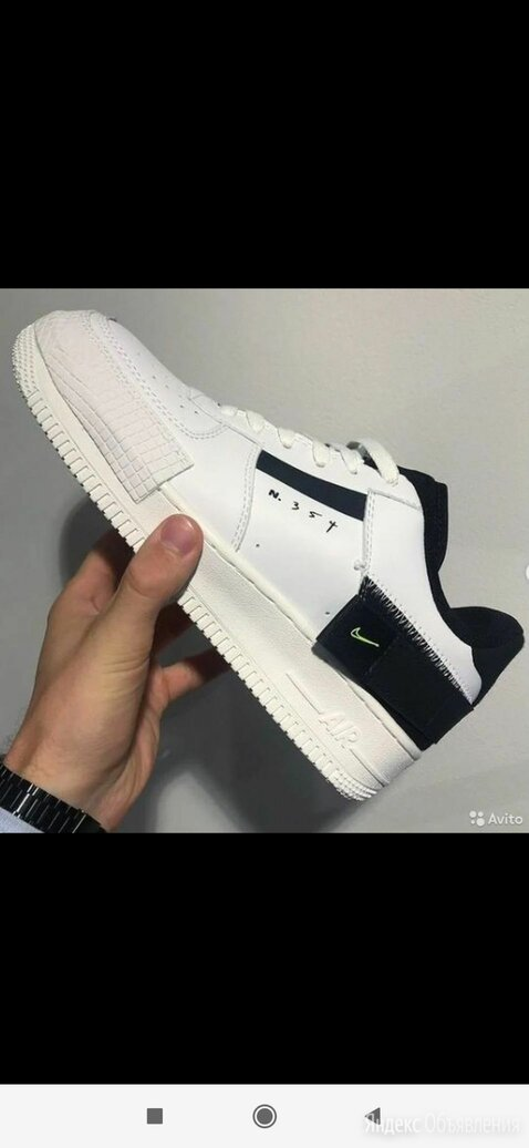 Кроссовки Nike Аир Форс 1 белые оригинал по цене 4500₽ - Кроссовки и кеды, фото 0
