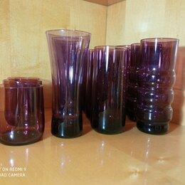 Бокалы и стаканы - Стаканы фужеры марганцевое стекло из 60/70-х Стрыйского СЗ, 0