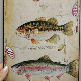 "Таблички - Жестяная табличка ""рыбы"", 0"