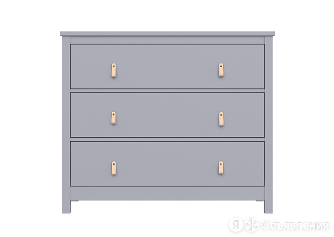 Ellipse комод wood 3 ящика / цвет серый по цене 32900₽ - Тумбы, фото 0
