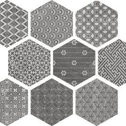 Плитка из керамогранита - Керамическая плитка esagona fabric natural 24x27,7 (56 b), 0