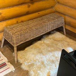 Плетеная мебель - Лавочка из натурального  ротанга, 0