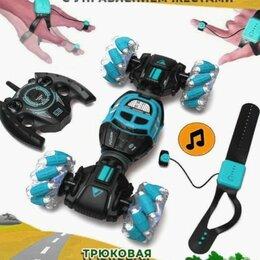 Радиоуправляемые игрушки - Машинка перевертыш ручное управление синий, 0