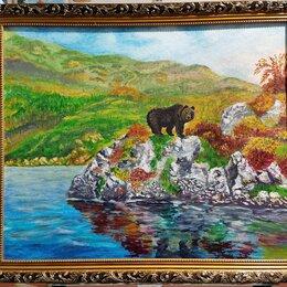Картины, постеры, гобелены, панно - Картина маслом Пейзаж Сахалина. Мишка. , 0