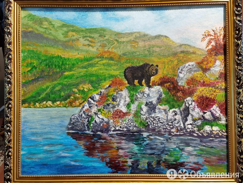 Картина маслом Пейзаж Сахалина. Мишка.  по цене 8000₽ - Картины, постеры, гобелены, панно, фото 0