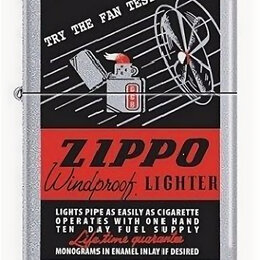 Пепельницы и зажигалки - Зажигалка Zippo 24384 The Fan Test, 0